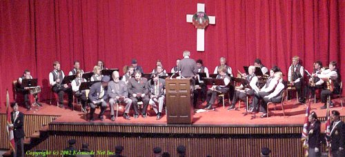 Ceremony at Tillicum Theatre with the Terrace Community Band